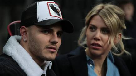 Mauro Icardi e Wanda Nara. Getty