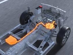 Il sistema Suzuki Hybrid in arancione