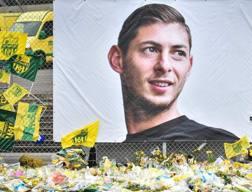 Il ricordo dei tifosi del Nantes per Emiliano Sala. Afp