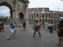 Beach volley e gladiatori