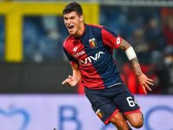 Pietro Pellegri quando vestiva la maglia del Genoa. Ansa