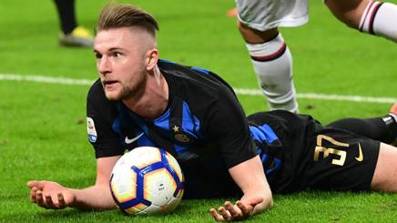 Milan Skriniar, difensore dell'Inter. Afp