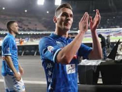 Arek Milik, 24 anni, applaudito dal San Paolo