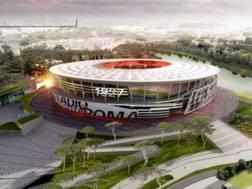 Il rendering del futuro  stadio della Roma