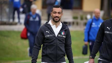 Fabio Quagliarella a Coverciano. LaPresse
