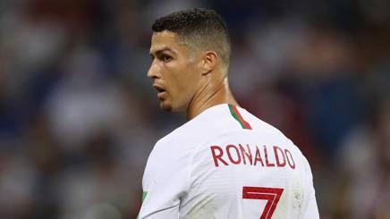 Cristiano Ronaldo con la maglia del Portogallo. Getty