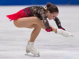 Alina Zagitova, 16 anni, nel corto di Saitama. Afp
