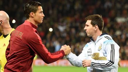 Cristiano Ronaldo e Leo Messi avversari in nazionale. Lapresse