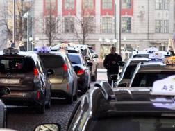 Una fila di taxi a Oslo