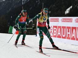 Dorothea Wierer (in primo piano) e Lisa Vittozzi, una stagione trionfale. IPP