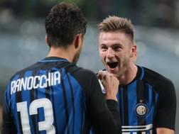 Andrea Ranocchia e Milan Skriniar. Getty
