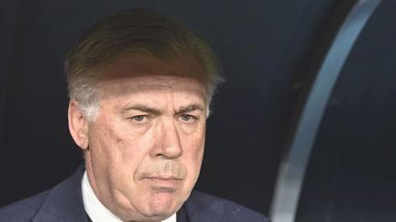 Carlo Ancelotti, al primo anno sulla panchina del Napoli. Afp