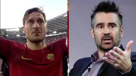 Francesco Totti e Colin Farrell