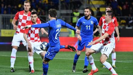 Manuel Locatelli segna il gol del momentaneo 2-0. Lapresse