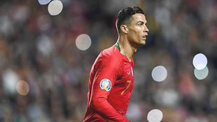 Cristiano Ronaldo con il Portogallo. Afp