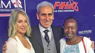 Da sinistra Nadia Comaneci, Raffaele Chiulli e Tegla Loroupe