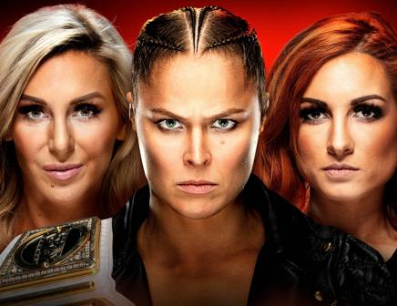 Charlotte Flair, Ronda Rousey e Becky Lynch