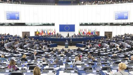Il Parlamento europeo durante una seduta. Ansa