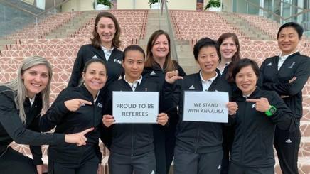 La solidarietà ad Annalisa Moccia dalle donne arbitro del Mondiale 2019