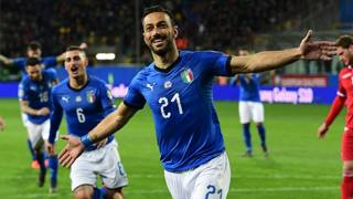L'esultanza di Fabio Quagliarella, 36 anni. Afp