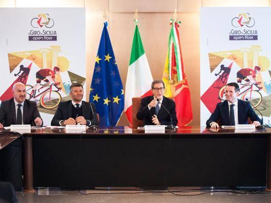 La presentazione del Giro di Sicilia