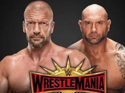 I duellanti: Triple H e Batista.
