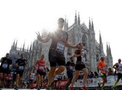 Una fase della Milano Marathon