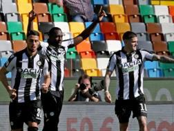 Un'immagine del match. Ansa