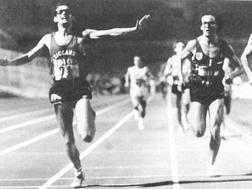 Pimazzoni (a sinistra) vince gli assoluti a Roma nel 1983