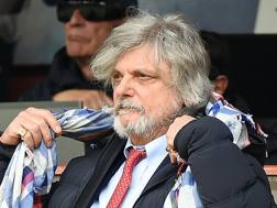 Massimo Ferrero, presidente della Sampdoria. LaPresse