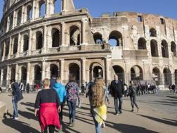 Un'immagine del Colosseo. Lapresse