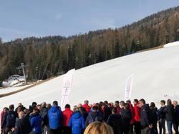 La commissione del Cio in visita a Cortina