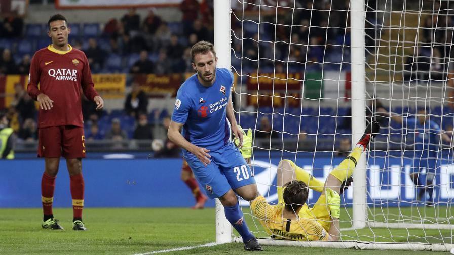 Dzeko da fuori: Lafont c'è LIVE Roma-Fiorentina 1-1