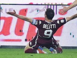Belotti esulta dopo il gol. Ansa