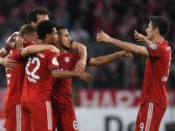 L'esultanza del Bayern. Afp