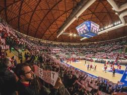 Una veduta del palasport di Trieste, impianto da 7mila posti