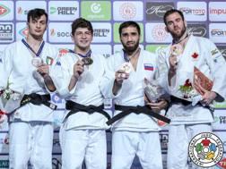Il podio degli 81 kg del Grand Prix ad Antalya con Christian Parlati (primo a sinistra) al secondo posto