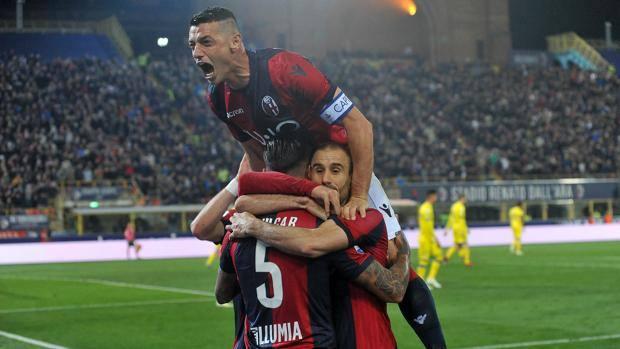 L'esultanza del Bologna. Getty