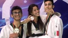 Vito dell'Aquila e Simone D'Alessio, oro, con Daniela Rotolo, bronzo