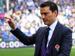 Vincenzo Montella ai tempi in cui allenava la Fiorentina. Lapresse