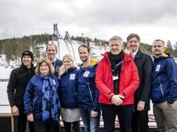La commissione Cio in visita a marzo a Falun. Epa