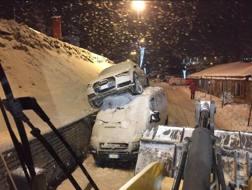 L'auto di Sofia Goggia dopo l'incidente