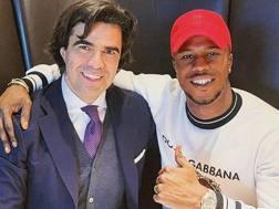 Keita Balde, attaccante dell'Inter, con Federico Pastorello. Instagram