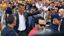 Cristiano Ronaldo arriva a Torino. Afp