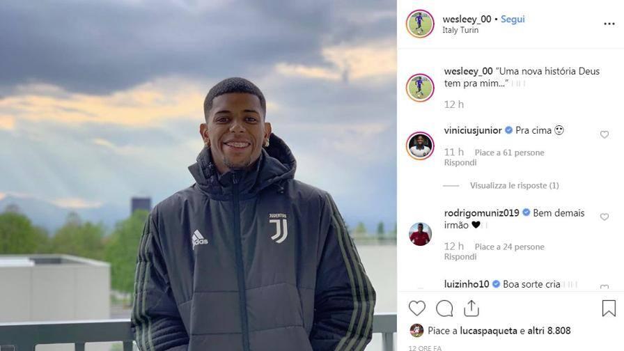 "Wesley si ""autoannuncia"" ""Juve, una storia nuova"""