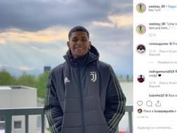 La foto pubblicata da Wesley su Instagram