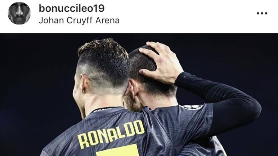 """Ronaldo: """"Ben fatto, Juve"""" Bonucci: """"Ora lo scudetto"""""""