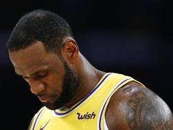 LeBron James, 34 anni, prima stagione ai Lakers. Afp