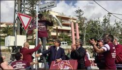 """Il momento dell'inaugurazione della via """"Grande Torino"""" a Sanremo"""