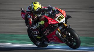 Alvaro Bautista in azione su Ducati